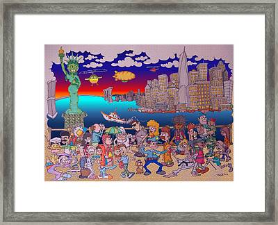 From Brooklyn With Love Framed Print by Paul Calabrese