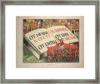 From Darkness Into Light Framed Print by British Library