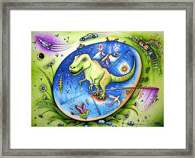 Since The Time Of Dinosaurs  Framed Print