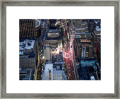 Framed Print featuring the photograph From Empire State by Justin Lee Williams