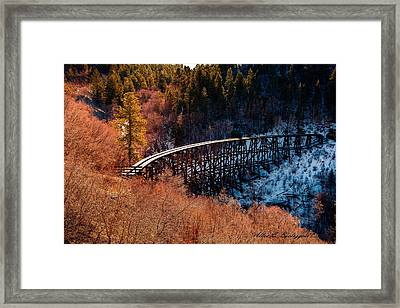 From Fire To Ice Framed Print