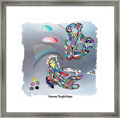 From Floating Objects Framed Print by George Curington