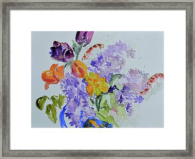Framed Print featuring the painting From Grammy's Garden by Beverley Harper Tinsley