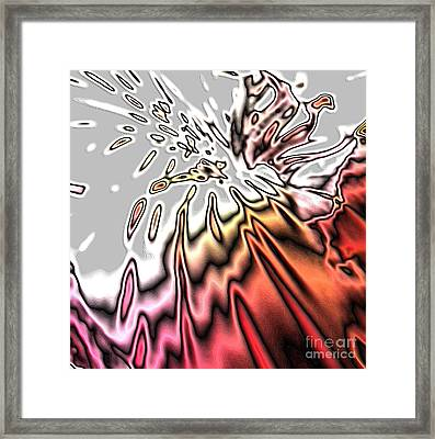 From Grey To Red. Beautiful Abstract Design Framed Print
