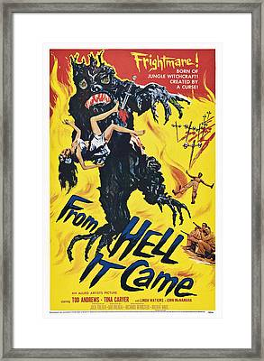 From Hell It Came, Poster Art, 1957 Framed Print