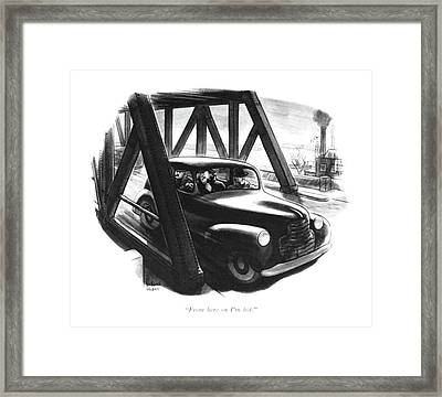 From Here On I'm Hot Framed Print