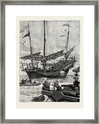 From Hong Kong To Macao In A Torpedo Boat, Close Quarters Framed Print by English School
