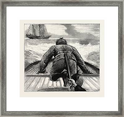 From Hong Kong To Macao In A Torpedo Boat, Fixing An Framed Print by English School