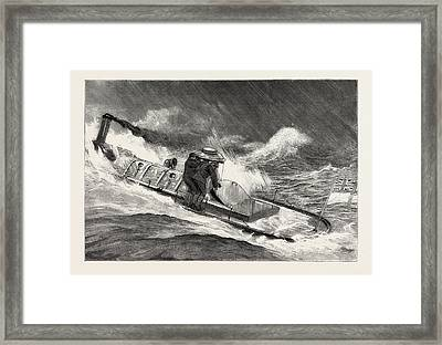 From Hong Kong To Macao In A Torpedo Boat, Full Speed Framed Print by English School