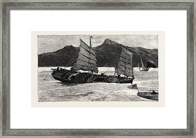 From Hong Kong To Macao In A Torpedo Boat, We Leave Framed Print by English School