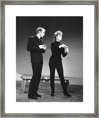 From Left, Bob Fosse, Gwen Verdon, 1962 Framed Print by Everett