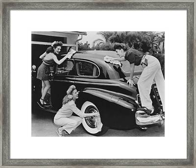 From Left, Laverne Andrews, Patty Framed Print
