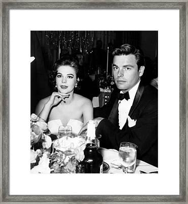 From Left, Natalie Wood, Robert Wagner Framed Print