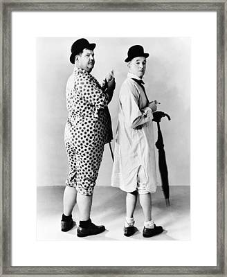 From Left Oliver Hardy, Stan Laurel Framed Print