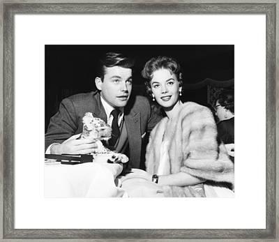 From Left Robert Wagner And Natalie Framed Print by Everett