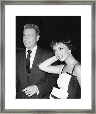 From Left, Robert Wagner, Natalie Wood Framed Print by Everett