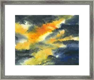 From Light Into Dark Framed Print by Karen  Condron