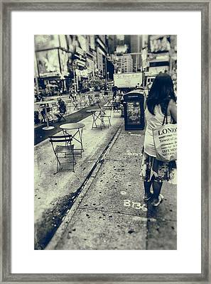 From London To New York Framed Print by Karol Livote