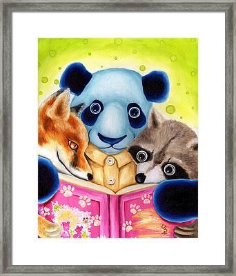 From Okin The Panda Illustration 10 Framed Print by Hiroko Sakai