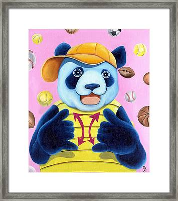 From Okin The Panda Illustration 14 Framed Print by Hiroko Sakai