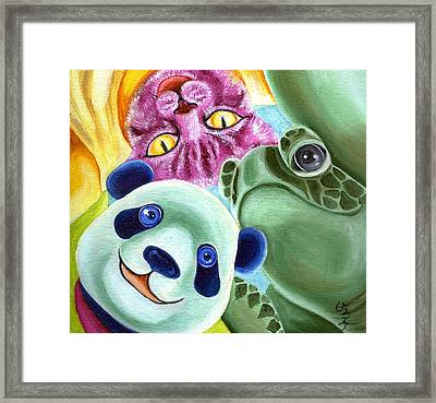 From Okin The Panda Illustration 9 Framed Print by Hiroko Sakai