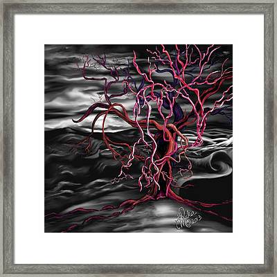 Framed Print featuring the painting From Out Of The Darkness by Yolanda Raker