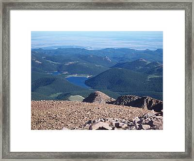 From Pike's Peak Framed Print