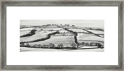 From Raddon Top In The Snow Framed Print by Pete Hemington