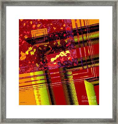 From Red To Brown Tones Framed Print by Mario Perez