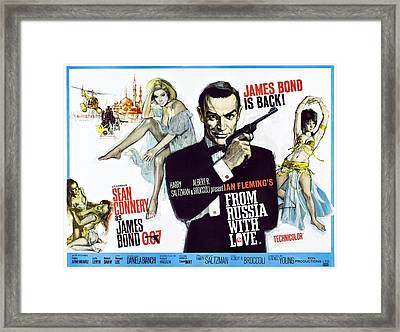 From Russia With Love, British Poster Framed Print