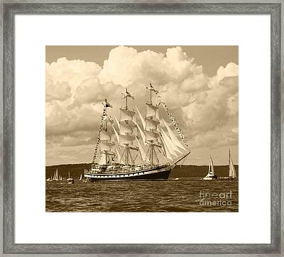 From Russia With Love Framed Print by Kym Backland