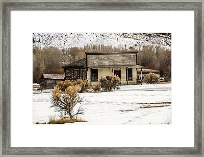 From Saloon To Store Front And Home Framed Print