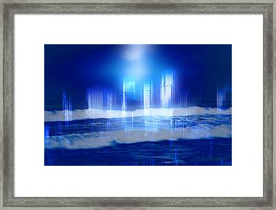 From Sea To Shining City Framed Print by Kellice Swaggerty