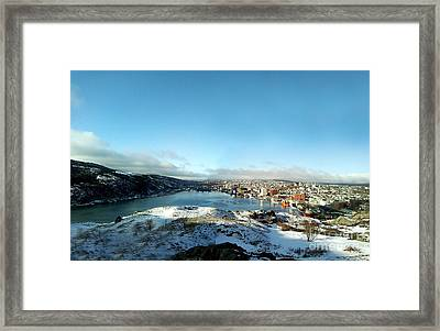 From Signal Hill Framed Print by Barbara Griffin
