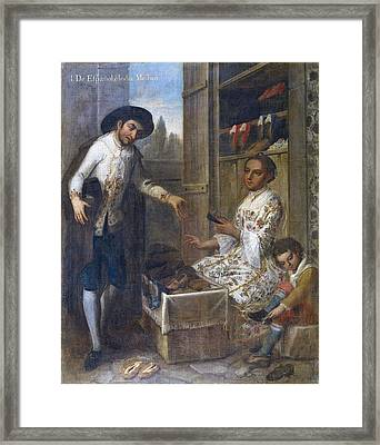 From Spanish And Indian Mestizo. 18th Framed Print by Everett