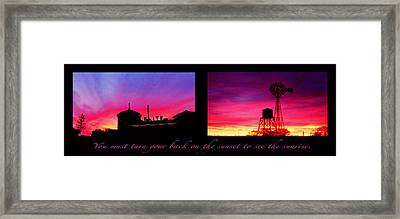 From Sunset To Sunrise Framed Print