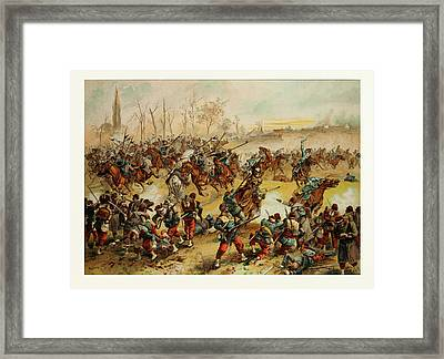 From The Battle Of St. Quentin On The 19th Of January 1871 Framed Print by French School