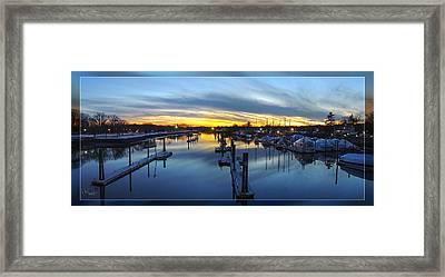 From The  Bridge Framed Print