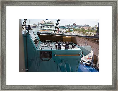 From The Bridge Waiting For Departure Framed Print by Rene Triay Photography