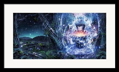 Heal Digital Art Framed Prints