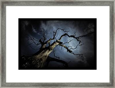 From The Darkness It Came Framed Print by Chris Fletcher
