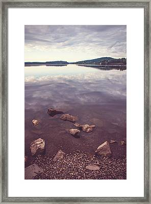 From The Depth Of Silence. Ladoga Lake  Framed Print by Jenny Rainbow