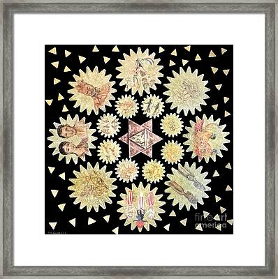 From The Divine To The Cell To Civilization To The Universe Framed Print by Anna Maria Guarnieri