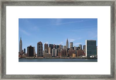 From The Empire State To The Un Framed Print by Jim Poulos