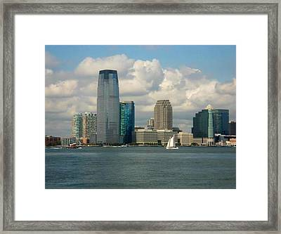 Framed Print featuring the photograph From The Ferry by Justin Lee Williams