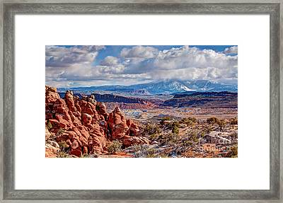 From The Fiery Furnace Framed Print by Bob and Nancy Kendrick