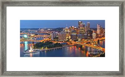 From The Fountain To Ft. Pitt Framed Print by Adam Jewell