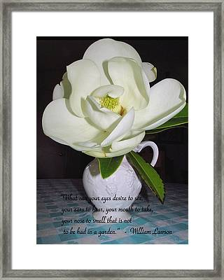 From The Garden Of Life Framed Print by Joyce Dickens