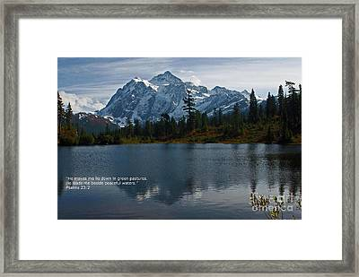 From The Hills Framed Print by Rod Wiens
