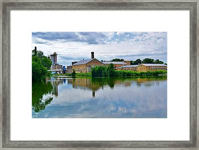 From The Menasha Park Lock On The Fox River Framed Print by Carol Toepke